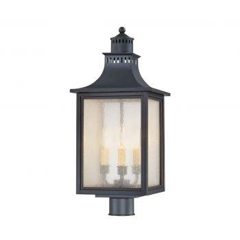 Savoy House Monte Grande 3-Light Post Lantern in Slate