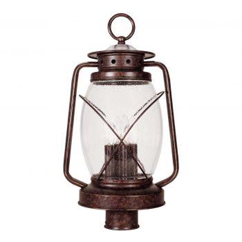 Savoy House Smith Mountain 3-Light Post Lantern in New Tortoise Shell