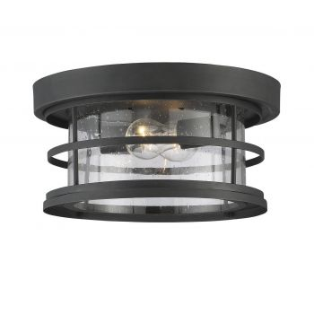 "Savoy House Barrett 13""  Outdoor Ceiling Light in Black"