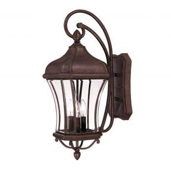 Savoy House Realto 3-Light Outdoor Wall Lantern in Walnut Patina