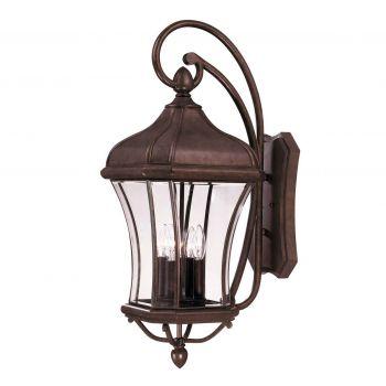 Savoy House Realto 4-Light Outdoor Wall Lantern in Walnut Patina