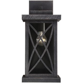 "Savoy House Norwalk 17.5"" Outdoor Wall Lantern in Brushed Bronze"