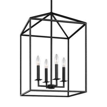 Sea Gull Lighting Perryton 4-Light Hall / Foyer in Blacksmith