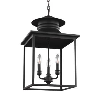 Sea Gull Lighting Huntsville 3-Light Hall / Foyer in Blacksmith