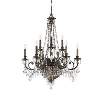 Crystorama Vanderbilt 12-Light Hand Cut Crystal Chandelier
