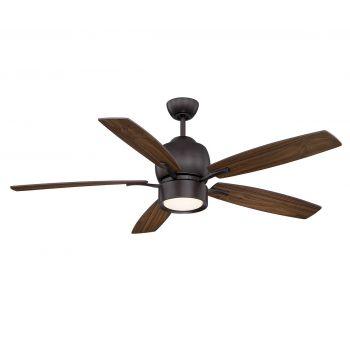 "Savoy House Girard 52"" 5-Blade Ceiling Fan in English Bronze"