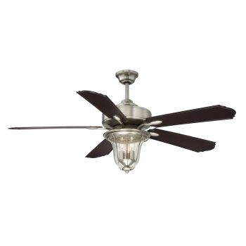 "Savoy House Trudy 52"" 5 Blade Ceiling Fan in Satin Nickel"