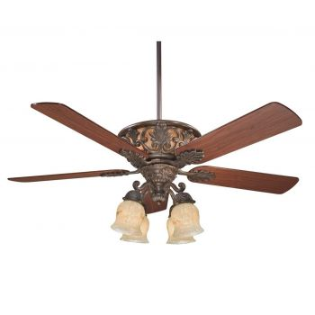 """Savoy House The Monarch 54"""" Indoor Ceiling Fan in Walnut Patina"""