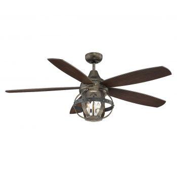 "Savoy House Alsace 52"" 3-Light Ceiling Fan in Reclaimed Wood"