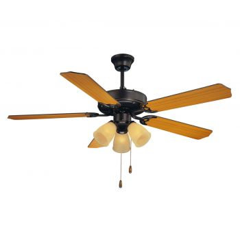 """Savoy House First Value 52"""" 3-Light Ceiling Fan in English Bronze"""