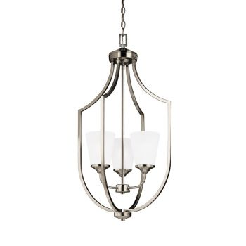 Sea Gull Lighting Hanford 3-Light Hall / Foyer in Brushed Nickel