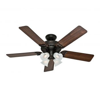 "Hunter Studio Series 52"" Ceiling Fan in New Bronze"