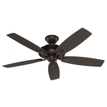 """Hunter Rainsford 52"""" Outdoor Ceiling Fan in Premier Bronze"""