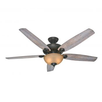"Hunter Valerian 60"" Ceiling Fan in Brittany Bronze"