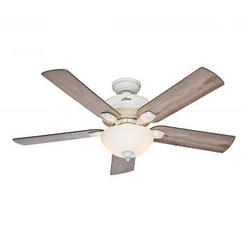 """Hunter Matheston 52"""" Outdoor Ceiling Fan in Cottage White"""