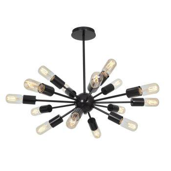 """Access Lighting Flux 23.5"""" 16-Light Vintage Lamped Chandelier in Bronze"""
