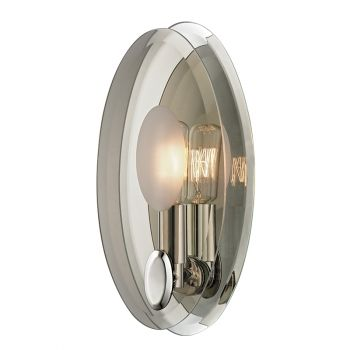 Hudson Valley Galway 1-Light Wall Sconce in Polished Nickel