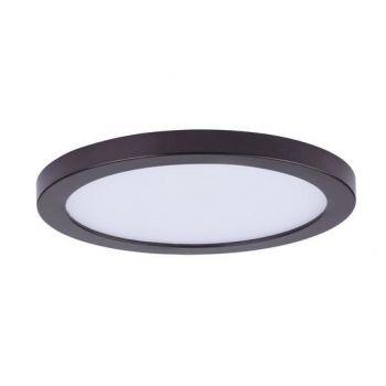 "Maxim Lighting Wafer LED 7"" Round Ceiling Light in Bronze"