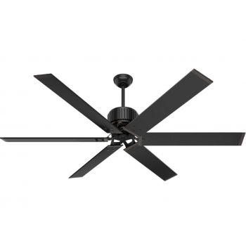 """Hunter 72"""" Outdoor Ceiling Fan in Matte Black"""