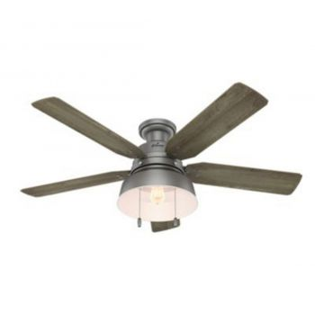 "Hunter Mill Valley 52"" LED Ceiling Fan in Brushed Nickel/Chrome"