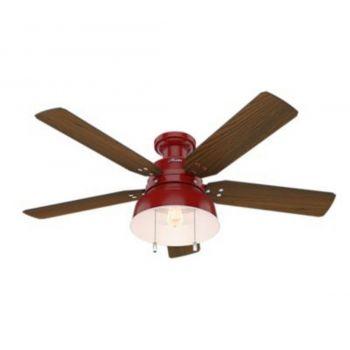 """Hunter Mill Valley 52"""" LED Ceiling Fan in Medium Walnut"""