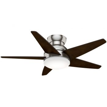 """Casablanca Isotope 44"""" 2-Light LED Indoor Ceiling Fan in Nickel/Chrome"""