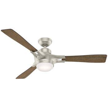 """Hunter Signal 54"""" LED Smart Ceiling Fan in Matte Nickel"""