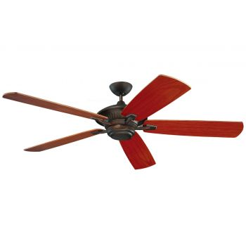 """Monte Carlo 60"""" Cyclone Outdoor Wet Rated Ceiling Fan in Roman Bronze"""