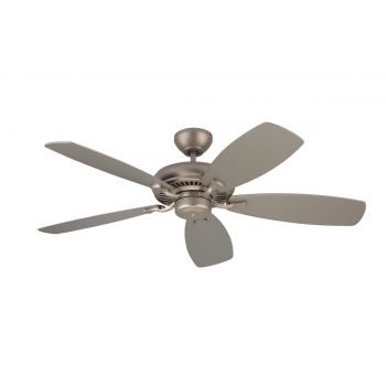 """Monte Carlo 52"""" Designer Max Ceiling Fan in Brushed Pewter"""