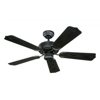 "Monte Carlo 42"" Weatherford II Outdoor Wet Rated Ceiling Fan in Matte Black"