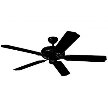 """Monte Carlo 52"""" Weatherford Outdoor Wet Rated Ceiling Fan in Black"""