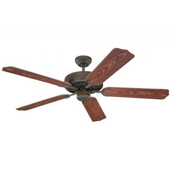 """Monte Carlo 52"""" Weatherford Outdoor Wet Rated Ceiling Fan in Roman Bronze"""