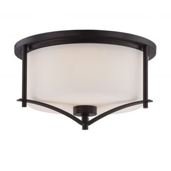 Savoy House Colton 3-Light Flush Mount in English Bronze