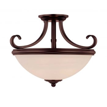 Savoy House Willoughby 2-Light Semi-Flush in English Bronze