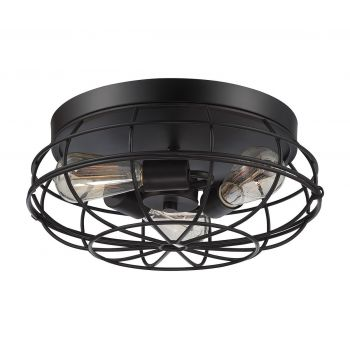 Savoy House Scout 3-Light Flush Mount in English Bronze