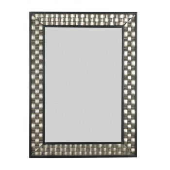 Kenroy Home Checker Wall Mirror in Brushed Silver Finish