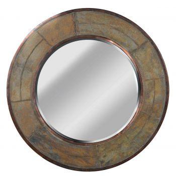 Kenroy Home Keene Wall Mirror in Natural Slate