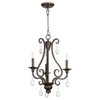 """Quorum Anders 18.5"""" 3-Light Chandelier in Oiled Bronze"""
