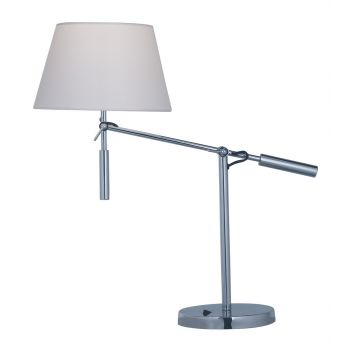 """Maxim Lighting Hotel 22.75"""" Table Lamp in Polished Chrome"""