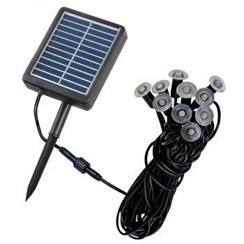 Kenroy Home Solar 10-Light LED Micro String in Black Finish