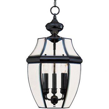Maxim Lighting South Park 3-Light Outdoor Hanging Lantern in Black