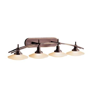 Kichler Structures 4-Light Bath Wall Mount in Olde Bronze