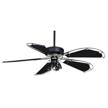 Casablanca Panama Indoor Ceiling Fan in Black