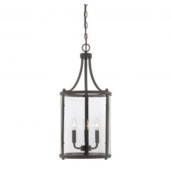 Savoy House Penrose 3-Light Foyer Lantern in English Bronze