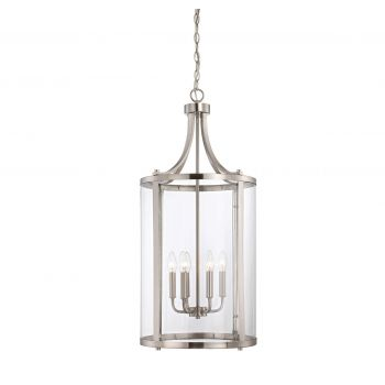 Savoy House Penrose 6-Light Foyer Lantern in Satin Nickel