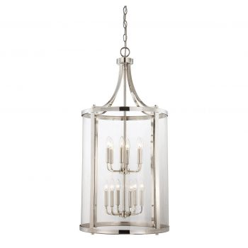 Savoy House Penrose 12-Light Foyer Lantern in Polished Nickel