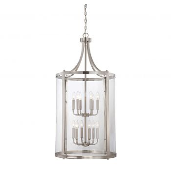 Savoy House Penrose 12-Light Foyer Lantern in Satin Nickel