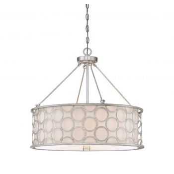Savoy House Triona 4-Light Pendant in Silver Leaf