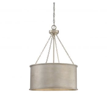 Savoy House Rochester 4-Light Pendant in Silver Patina