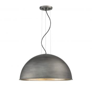 Savoy House Sommerton 3-Light Pendant in Rubbed Zinc w/ Silver Leaf